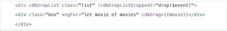 Drop list code