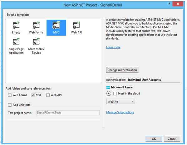Asp Net Signalr for Real Time Application