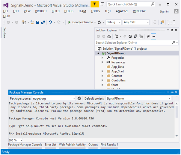ASP Net Signalr for Real Time Applications