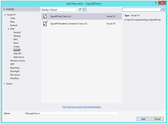 ASP Dot Net Signalr for Real Time Application