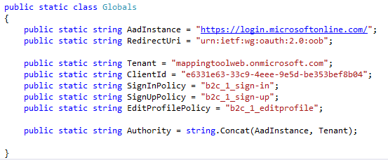 Integration of Azure Ad B2C with Dot Net Desktop Applications