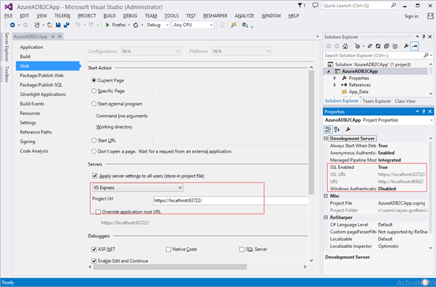 Integration of Azure Ad B2C with .Net Web App