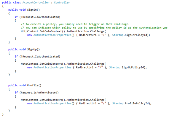 Integration Method of Azure ad B2C with .Net Web Apps