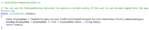 Integration of Azure Ad B2C with ASP.Net Web App