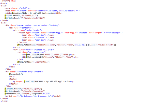 Integration of Azure Ad B2C with ASP Net Web App