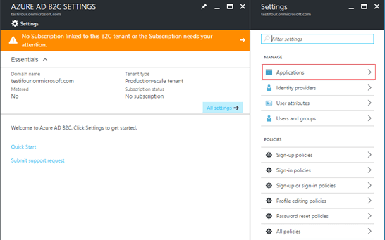 Azure ad B2C with Net Web App Integration
