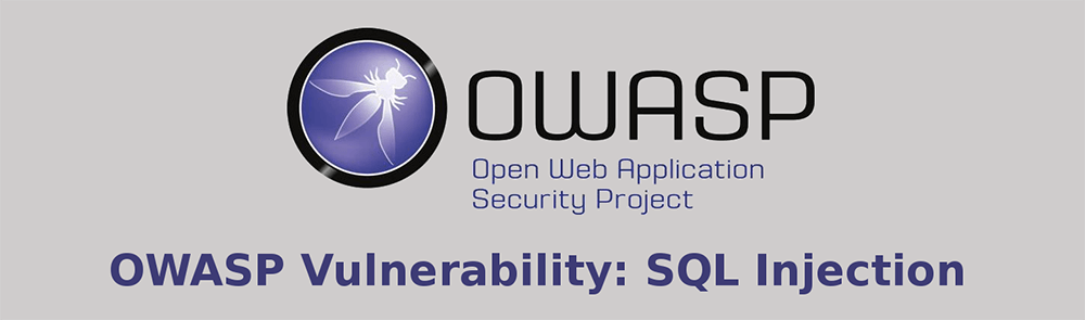 OWASP Vulnerability: SQL Injection