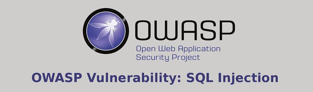 OWASP Vulnerability SQL Injection
