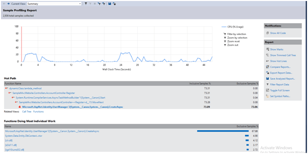 Visual Studio .Net Performance Profiling
