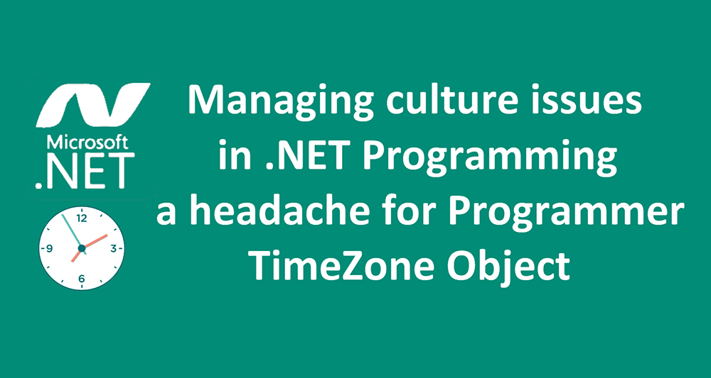 Timezone Object in Net Programming